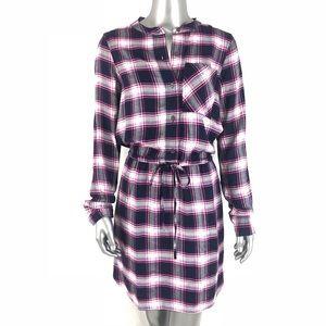 [GAP] NWT Plaid Longsleeve Dress Tie Waist XS